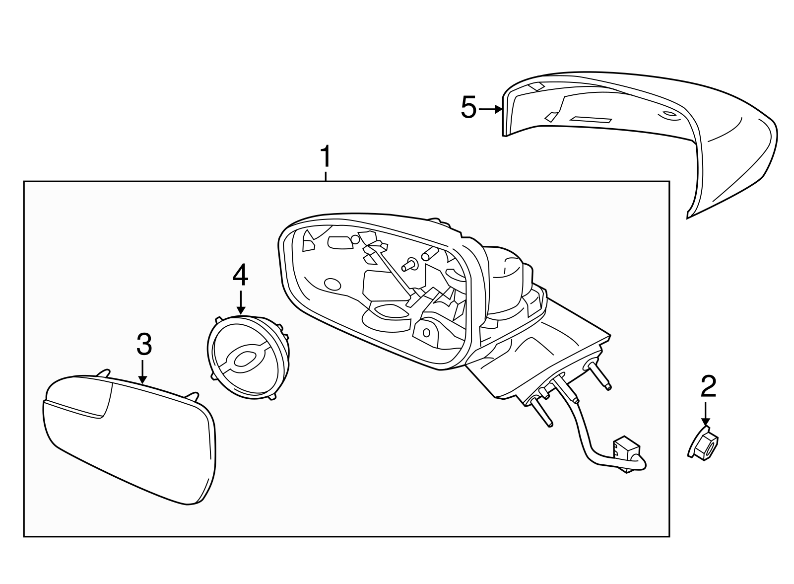 Oem New Genuine Ford Fusion Passenger Side View