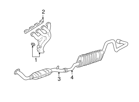 exhaust components for 1999 ford ranger