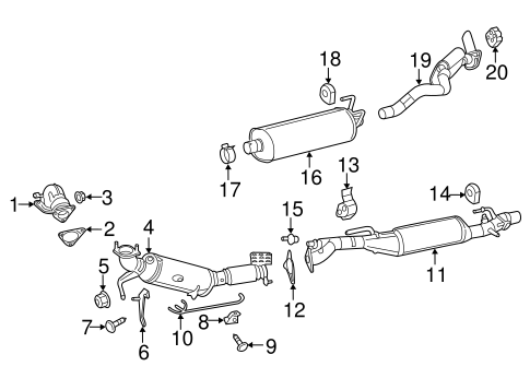 exhaust components for 2016 ram 1500