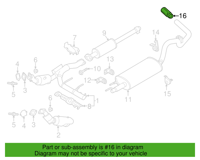 oem new 2011 2020 ford f 150 ranger extension exhaust pipe l3z 5k238 a