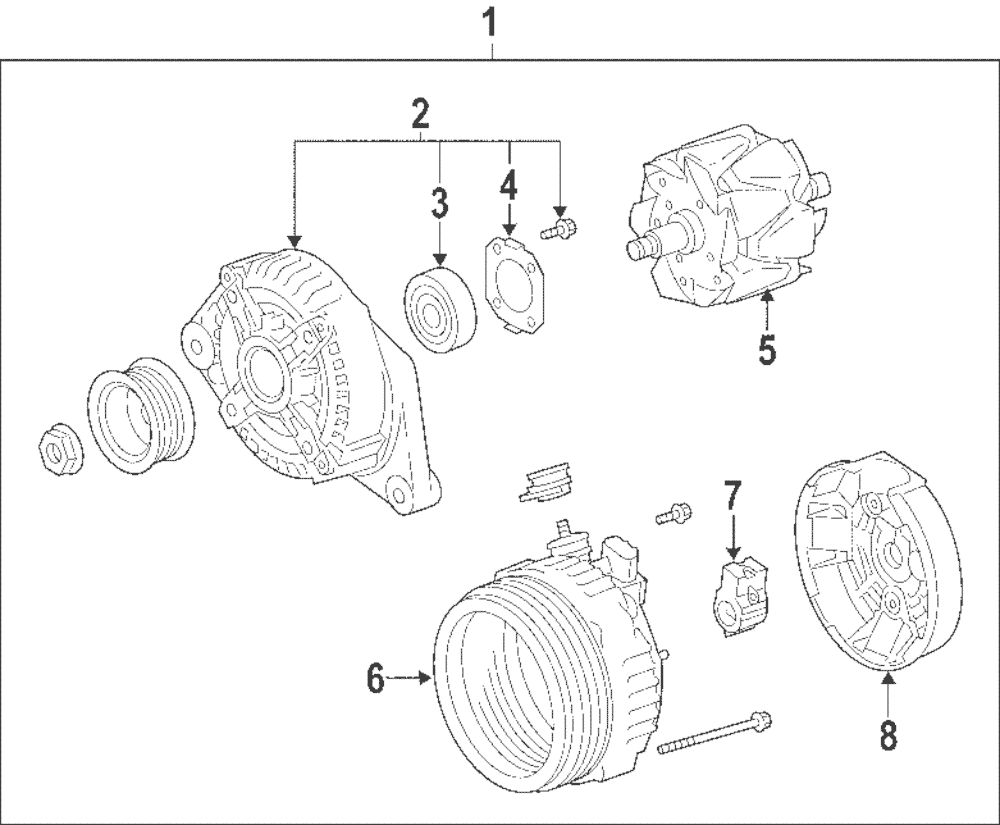 Genuine toyota alternator 27060 28301 84
