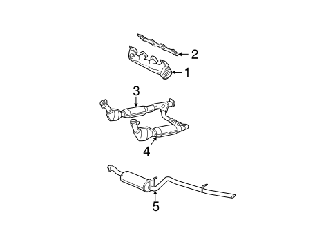 exhaust components for 2003 ford f 150