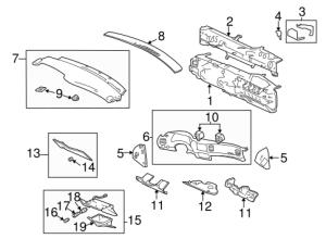 INSTRUMENT PANEL COMPONENTS Parts for 2005 Chevrolet Impala