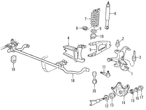 front suspension for 1995 ford f 150
