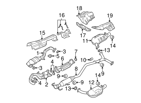 exhaust components for 2005 mazda 6