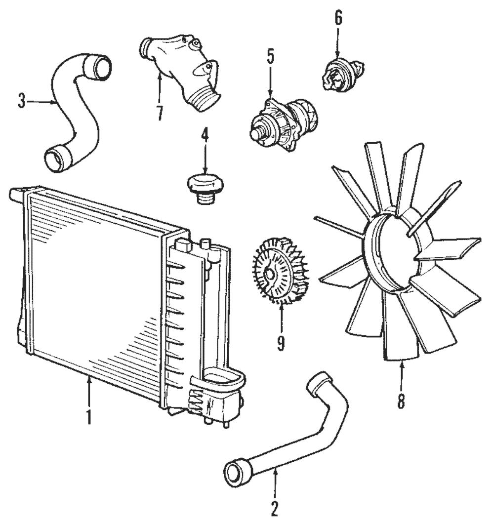 Genuine bmw radiator 17 11 9 071 519