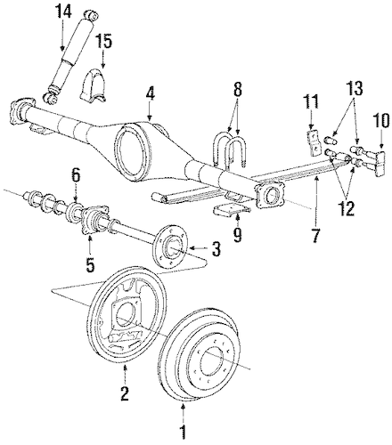 Mitsubishi Mighty Max Front Axle