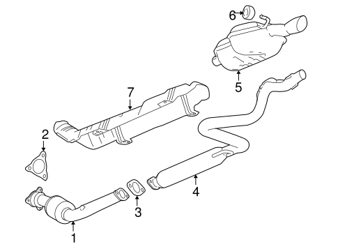 exhaust components for 2006 chevrolet