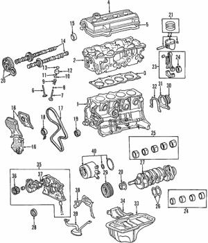 Genuine OEM Oil Cooler Parts for 1997 Toyota RAV4 Base  Olathe Toyota Parts Center