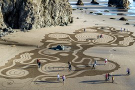 Dream Field Labyrinth by Denny Dyke, Labyrinth Artist, Circles in the Sand Bandon, Oregon