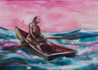 Pink Boat 2 (detail) oil on canvas 2016