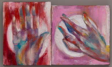 Red Hand Pink Hand oil on canvas 2016