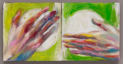 Yellow Hand Green Hand oil on canvas 2016