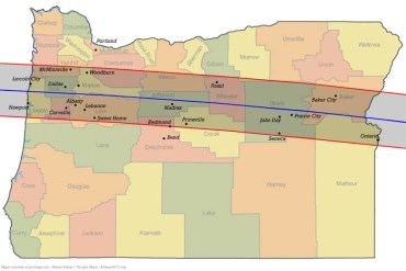 path of totality, total solar eclipse