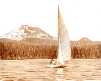 Sailing on Elk Lake