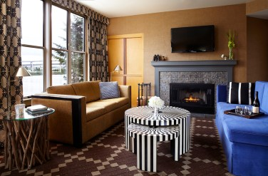 Fireplace living room suite