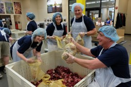Portland-based Consumer Cellular employees volunteer at the Oregon Food Bank