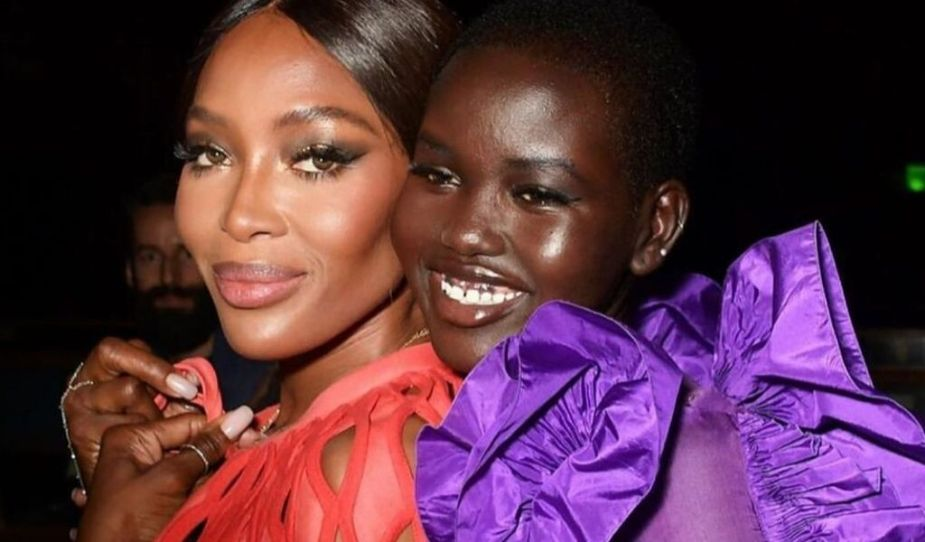 Naomi Campbell & Adut Akech (Fashion For Relief Show, London)