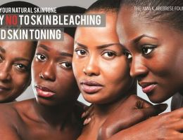 """La campagne """"Say NO To Skin Bleaching And Skin Toning"""" de l'actrice Ama K. Abebrese (Ghana)"""