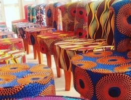 DZALEU.Com: African Lifestyle Magazine - Décoration d'inspiration africaine : mobilier en wax