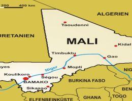 DZALEU.com - pays africains : carte du mali, Afrique de l'ouest, sahel, Cedeao