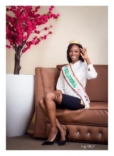 Miss Cameroun 2020 : Duchess Irene KOLLE, N° 13, 24 ans (Miss Littoral)