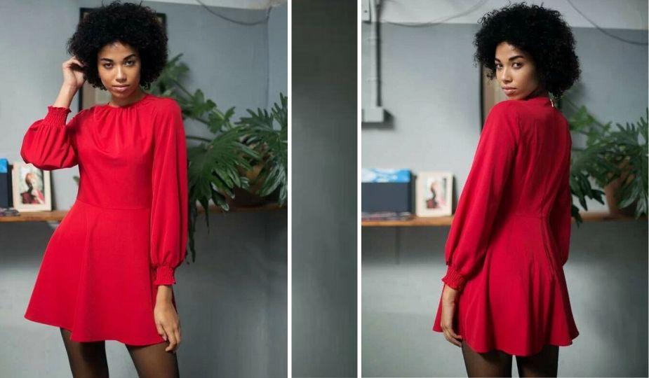 Shopping tenues et accessoires amincissants - Robe rouge évasée