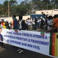 Yaoundé : Des jeunes camerounais manifestent le 24 février 2020 contre la France