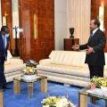 Yaoundé Palais d'Etoudi Paul Biya recevant François Lounceny Fall (Onu)