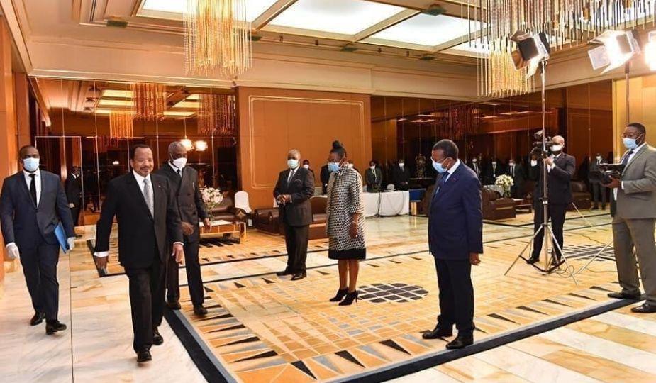 Paul Biya (président camerounais) au Palais d'Etoudi