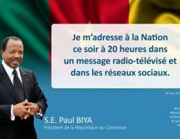 Discours de Paul Biya (président du Cameroun) pour le 20 Mai 2020