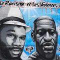 Fresque hommage à Adama Traore et George Floyd (Stains - France)