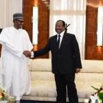 Paul Biya (cameroun) et Muhammadu Buhari (Nigeria)