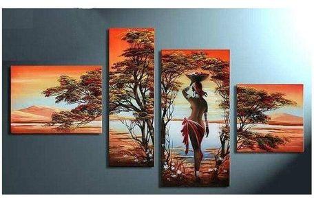 Déco murale : broderie diamant motif femme africaine