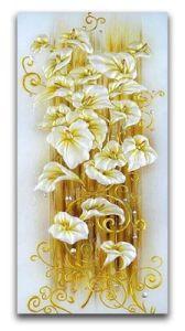 Broderie diamant motifs fleurs or déco