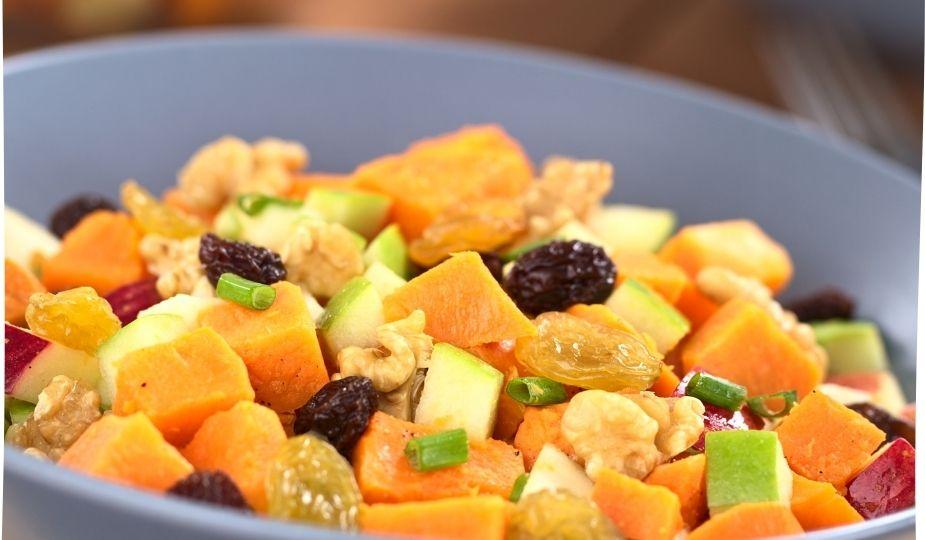 Salade patates douces et fruits