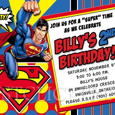 boys superhero superman birthday photo