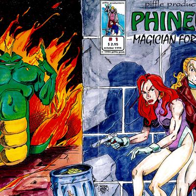 Original cover art for phineus issue #1 1994