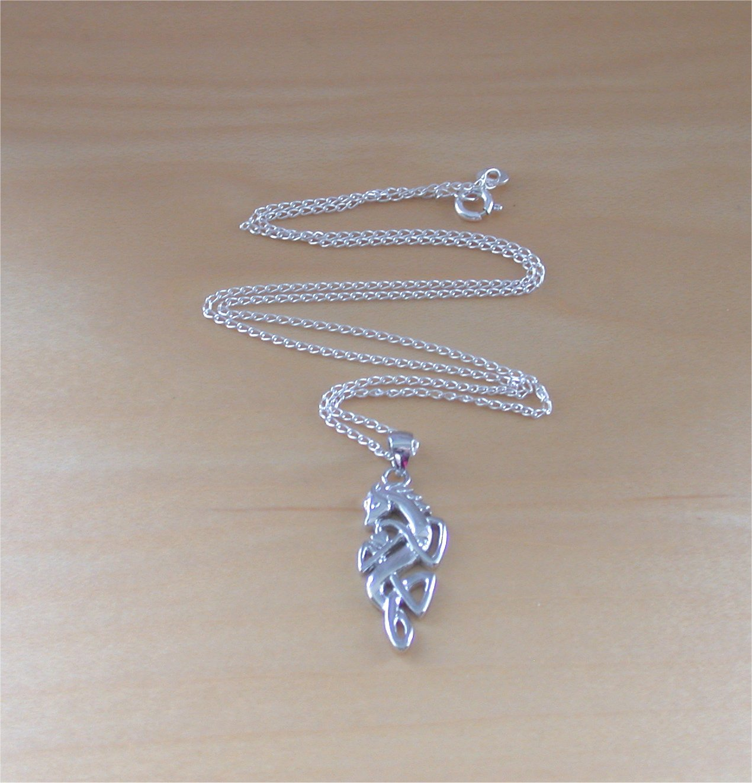 925 Celtic Horse Pendant Amp 18 Sterling Silver Chain