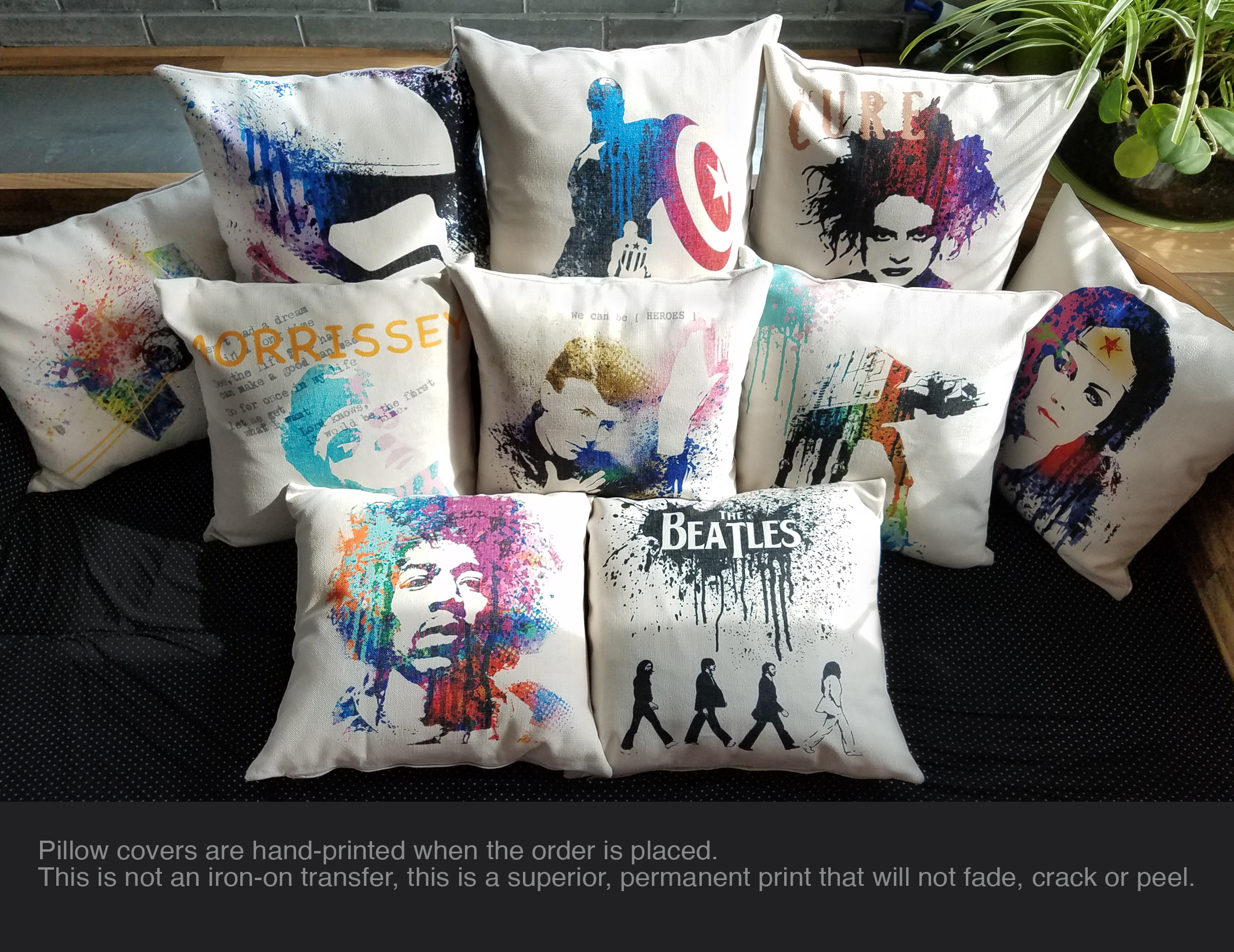 throw pillow cover rock and roll 60s music rock legend famous band art 0129 indian south asian home decor pillows home garden worldenergy ae