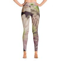 """Pink Daisies"" - High Rise Yoga Leggings medium photo"