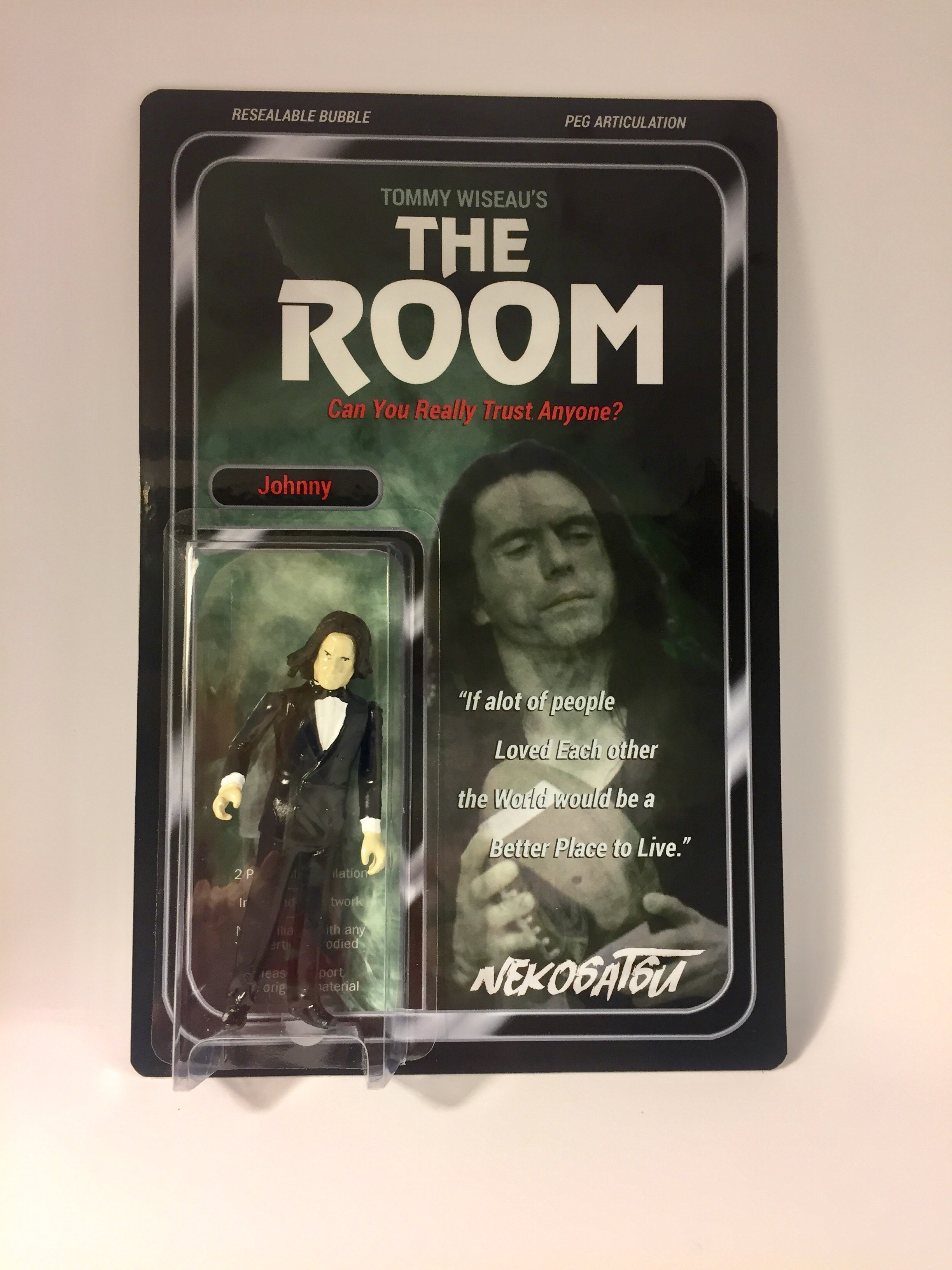 The Room Johnny Tommy Wiseau Nekosatsu Custom Resin