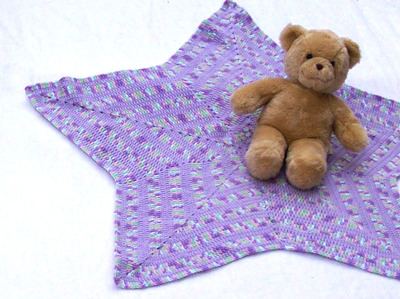 Superstar Lavender Baby Blanket