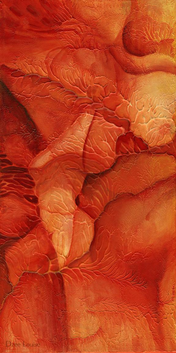 Stretch 2 (Appreciate) - acrylic on canvas - 12 x 48 inches