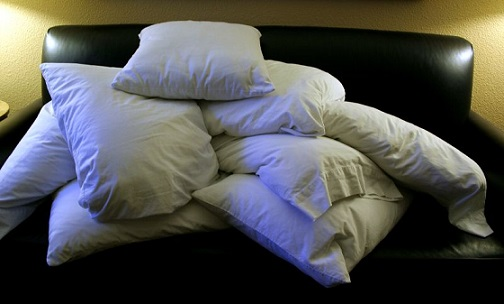 A pile of pillows