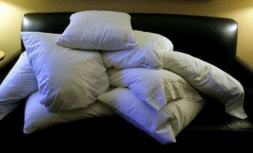 A pile of pillows