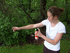 woman with Insect Repellent