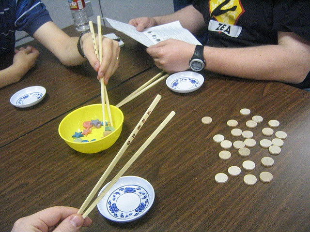 Chopsticks Dexterity as one of the Thanksgiving Games