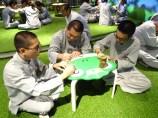如昇法師帶領同學們體驗新馬寺三好館