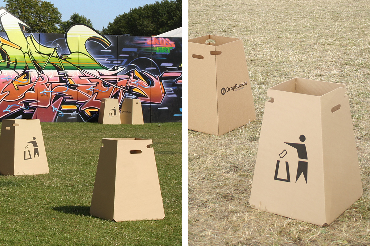 DropBucket - Waste bin made from recycled cardboard - 01